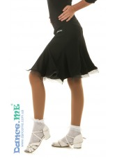 Юбка Латина ЮЛ131-N Dance.me, Украина, Масло, Черный
