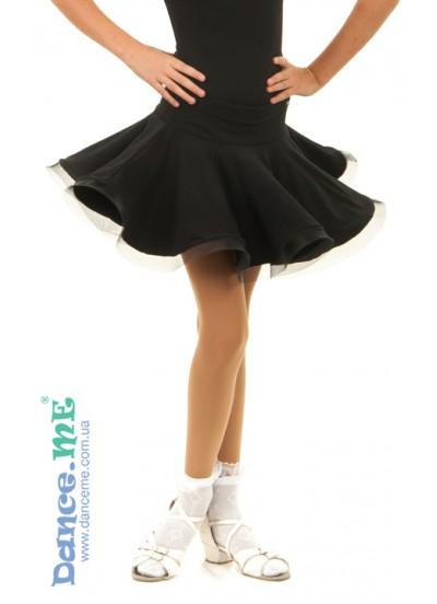 Юбка Латина ЮЛ414-Кри Dance.me, Украина, Масло, Черный