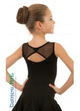 Блуза БЛ351 Dance.me, Украина, Масло+сетка, Черный
