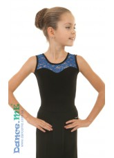 Блуза детская  БЛ335-11 Dance.me, Украина, Масло+гипюр, Черный Электрик