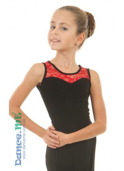 Детская блуза БЛ335 для бально-спортивных танцев производства Dance Me
