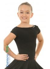Блуза женская БЛ353-КР Dance.me, Украина, Масло, Черный