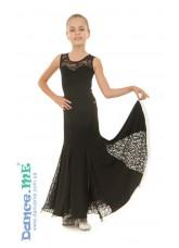 Юбка Стандарт детская ЮС157-Кри11 Dance.me, Украина, Масло+гипюр, Черный
