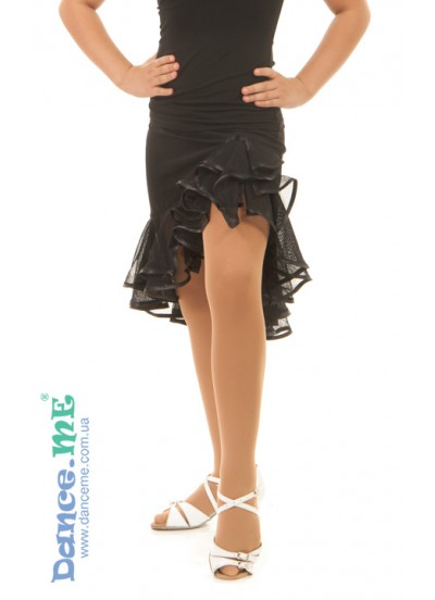 Детская юбка для латины Dance Me ЮЛ34, масло, черный