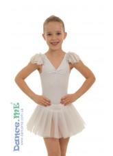 Dance Me Полупачка 223, бифлекс / фатин, белый (2)