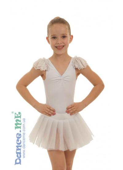 Детская полупачка Dance Me 223, бифлекс / фатин, белый (2)